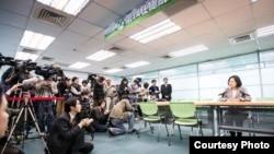 蔡英文宣佈參選總統候選人提名黨內初選(蔡英文facebook圖片)