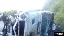 El accidente de Ventura, lo informó el director de comunicaciones de la Comisión Militar y Policial del Ministerio de Obras Públicas y Comunicaciones de República Dominicana.
