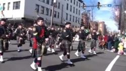 美国风情:圣帕特里克节热闹游行