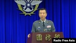 台灣國防部發言人陳中吉(資料圖)。