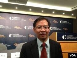 厦门大学台湾研究中心副主任李鹏。(美国之音 钟辰芳拍摄)
