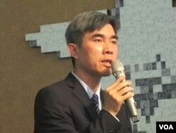 台北228紀念館館長蕭明治(美國之音張永泰拍攝)