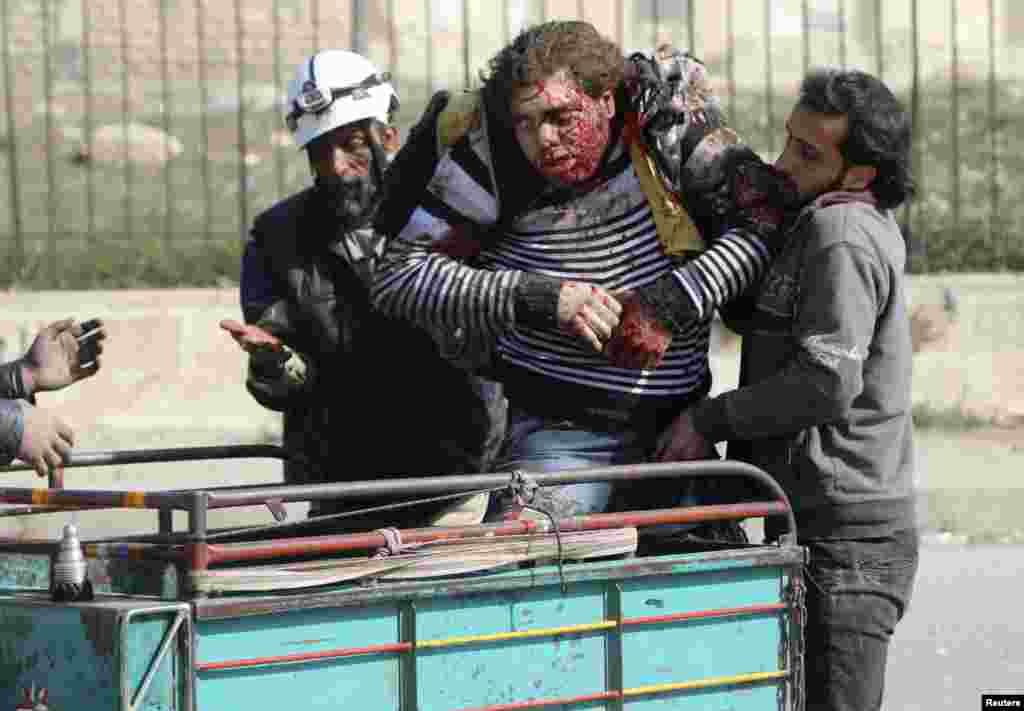 Hələbin Əl-Şaxur məhəlləsində bomba hücumu olub - 2 aprel, 2014