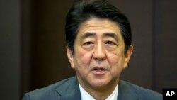 Japan's Prime Minister Shinzo Abe, Friday, May 6, 2016.