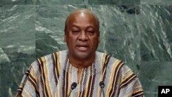 Le président sortnat du Ghana John Dramani Mahama, candidat à sa propre succession, 11 septembre 2016.