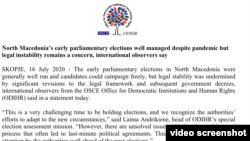 ОБСЕ за изборите во Северна Македонија