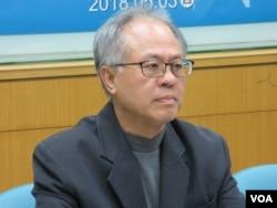 台湾民主基金会副执行长严建发 (美国之音张永泰拍摄)
