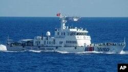 중국 해경국 소속 선박이 지난 6일 '센카쿠'(중국명 '댜오위다오') 열도 인근에 접근한 장면. 일본 해양경비대 제공.