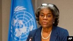 Đại sứ Mỹ tại Liên hiệp quốc Linda Thomas-Greenfield.