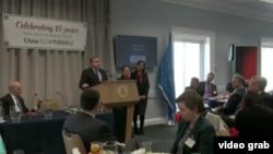 對華援助協會(China Aid)在美國國會圖書館舉行成立15週年紀念活動,共和黨籍聯邦眾議員史密斯在會上發言。(視頻截圖)