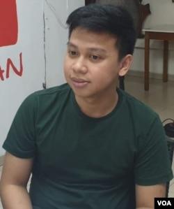 Anggota Tim Advokasi Novel Baswedan Andi Muhammad Rezaldy. (VOA/Sasmito)