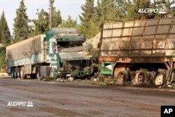Suriye'de saldırıya uğrayan yardım konvoyu