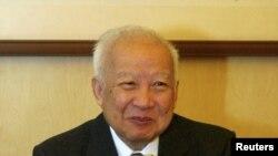 前柬埔寨國王諾羅敦‧西哈努克(資料圖片)