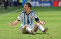 Messi hopes to win his first World Cup.