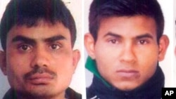 Akshay Thakur and Vinay Sharma received a stay of execution, giving them time to appeal, after being convicted in the 2012 gang rape of the young woman aboard a private bus in New Delhi.