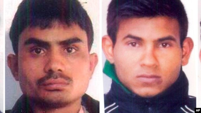 Convicted rapists (from left) Akshay Thakur and Vinay Sharma