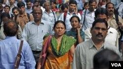 """Las expectativas son que la """"explosión juvenil"""" de la India dure hasta el 2050."""
