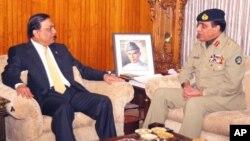 جنرل کیانی کی صدر زرداری سے ملاقات (فائل فوٹو)