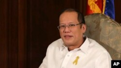 Presiden Filipina Benigno S. Aquino III di Istana Malacanang, Manila (24/1).