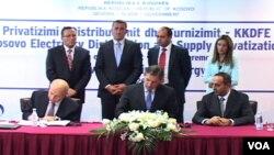 Nënshkrimi i marrëveshjes për rrjetin e shpërndarjes së energjisë