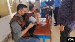 یکی از شعبات رای گیری در دهوک، عراق