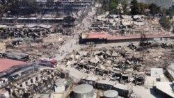 Un incendie a ravagé le plus grand camp de réfugiés en Grèce