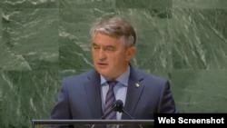 Željko Komšić se obraća na Generalnoj skupštini UN-a, 22. septembar 2021.