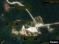 Sohae Satellite Launching Station is seen in Sohae, North Korea, in this satellite image taken September 17, 2016 released by 38 North. 38 North/Handout via Reuters.