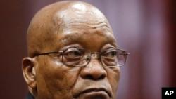 Owayengumongameli wakwele South Africa uMnu. Jacob Zuma usemthethwandaba edolobheni leDurban.