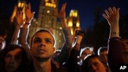 Молодые сторонники российской оппозиции (архивное фото)