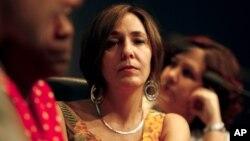 Mariela Castro, hija del presidente cubano Raúl Castro, asiste a una conferencia en La Habana. Mariela obtuvo una visa para visitar Estados Unidos, lo que ha provocado la protesta de un grupo de senadores.