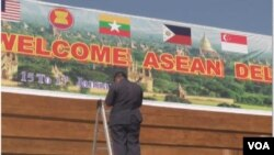 ASEAN ႏုိင္ငံျခားေရး၀န္ႀကီးအဆင့္ အစည္းအေ၀း က်င္းပဖို႔ ျပင္ဆင္ေနပံု (ဓာတ္ပံု-ဗြီအိုေအျမန္မာပိုင္း)။