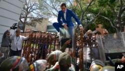 Prezidan Asanble Jeneral ak lidè opozisyon Venezuela a Juan Guaido. Foto: 5 janvye 2020.