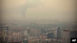 资料照 北京的雾霾天气