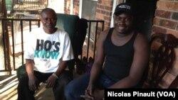 Jean-Charles Benam (g) et son cousin, réfugiés centrafricains à Clarkston