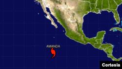 Gráfico del Centro Nacional de Huracanes de Estados Unidos.