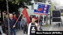 Protest protiv NATO-a na Cetinju