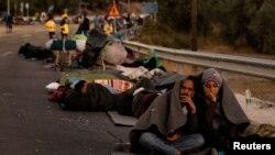 Pas zjarrit në kampin e refugjatëve në Moria (Lesbos, Greqi, 10 shtator 20020)
