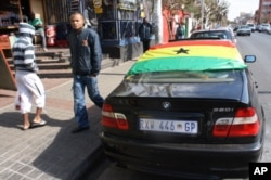 outh Africans have emblazoned their cars with Ghana flags to show their support for the Black Stars