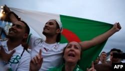 Des supporters algériens, Egypte, le 30 juin 2014.