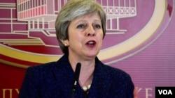 Inhloko kahulumende wele Bhilitane, uNkosikazi Theresa May