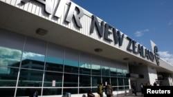 奧克蘭機場新西蘭航空公司的航站樓。(資料圖片)