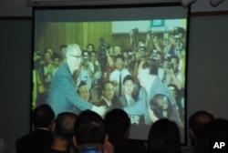 主辦機構播放回顧海基會成立20年的紀錄短片