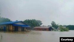 flood in lower Myanmar