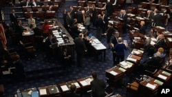 Faksi Republik yakin kendali atas lembaga Senat AS ada dalam jangkauan mereka dalam pemilu sela mendatang (foto: ilustrasi Senat AS).