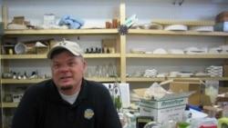 Tim Tate in his studio