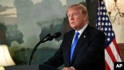 Президент Трамп у Білому домі піддає критиці ядерну угоду з Іраном