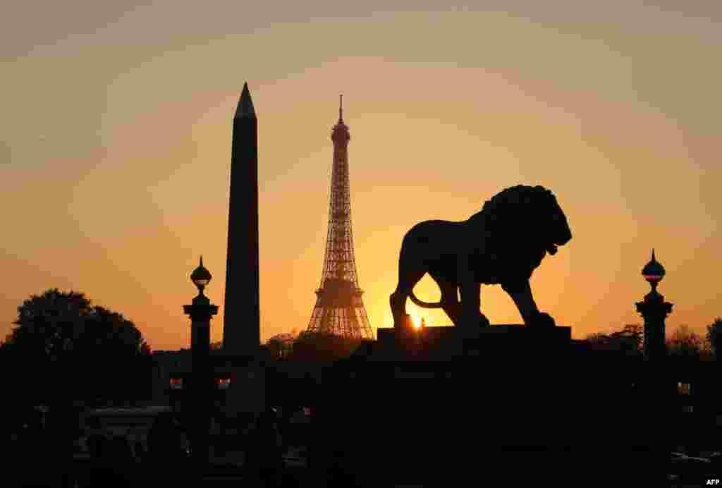 طلوع آفتاب در پاریس.
