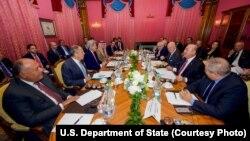نشست وزیران خارجه آمریکا، روسیه، ایران، عربستان، ترکیه، عراق، اردن، قطر و مصر در لوزان سوئیس - ۲۴ مهر ۱۳۹۵
