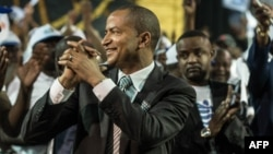 """Moïse Katumbi na lisanga na ye """"Ensemble pour le changement"""" na Johannesburg, Afrique du Sud, le 12 mars 2018."""